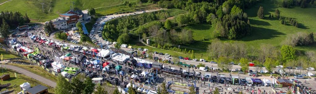 Vue aérienne du Véo Vert Festival 2015 à Villard-de-Lans