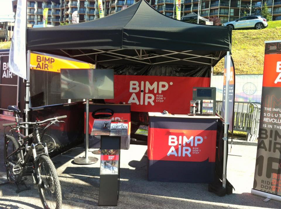 Le stand de Bimp'Air sur le Vélo Vert Festival