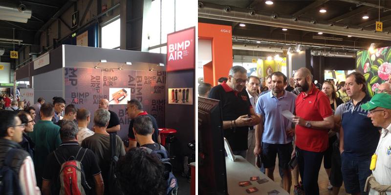 Stand BIMP'AIR au Cosmobike Show 2015 à Vérone