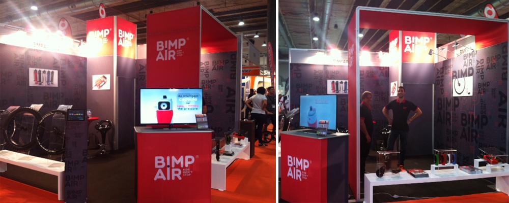 Le stand BIMP'AIR à l'Unibike 2015 à Madrid