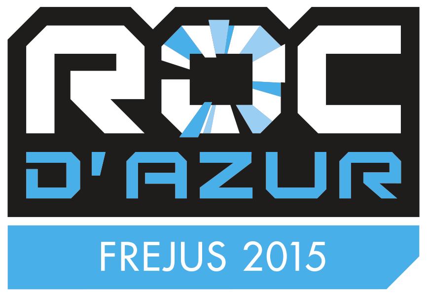 Logo du Roc d'Azur 2015 à Fréjus