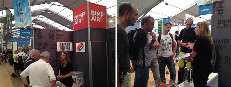 Stand BIMP'AIR au Roc d'Azur 2015 à Fréjus