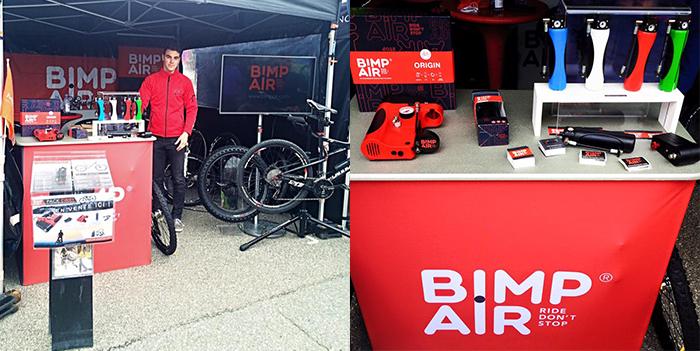 Le stand Bimp'Air sur la Mb Race de Megève