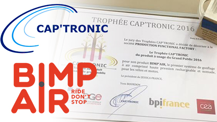 Bimp'Air Technology rewarded at the 'TROPHÉE CAP'TRONIC 2016'