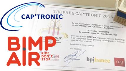 La technologie Bimp'Air récompensée aux Trophées CAP'TRONIC 2016