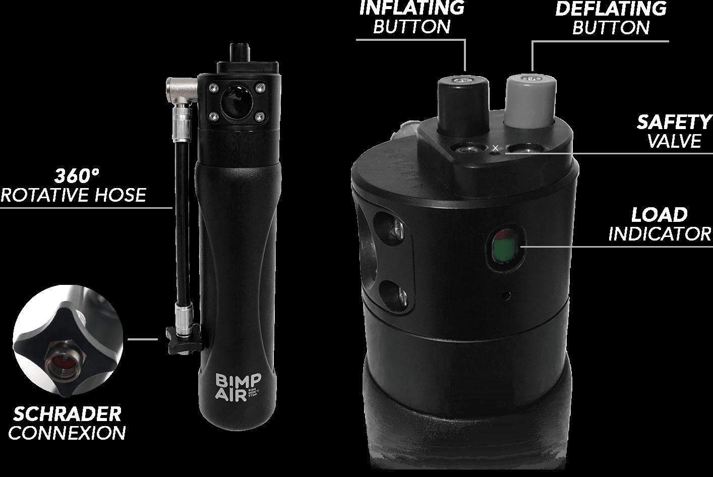 adjust suspensions pressure with the bimpair refillable cartridge