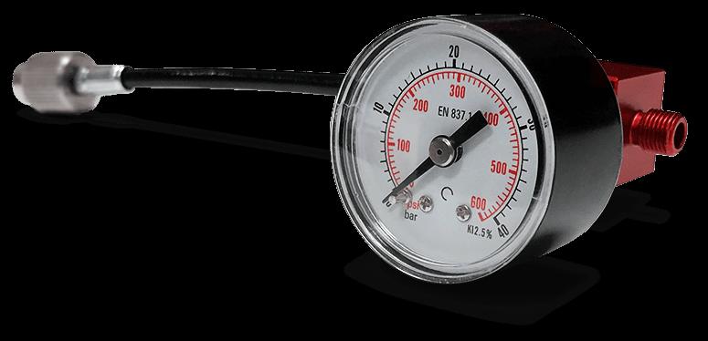 la solution idéale pour le réglage de vos suspensions. le manomètre analogique bimpair à affichage bar / psi et à embout vissable ou à aiguille