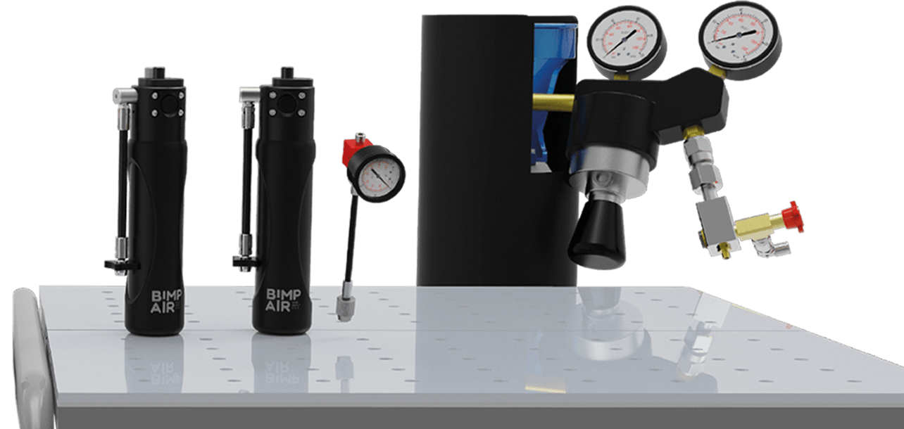 adjust suspensions pressure with bimpair pack pro nitrogen
