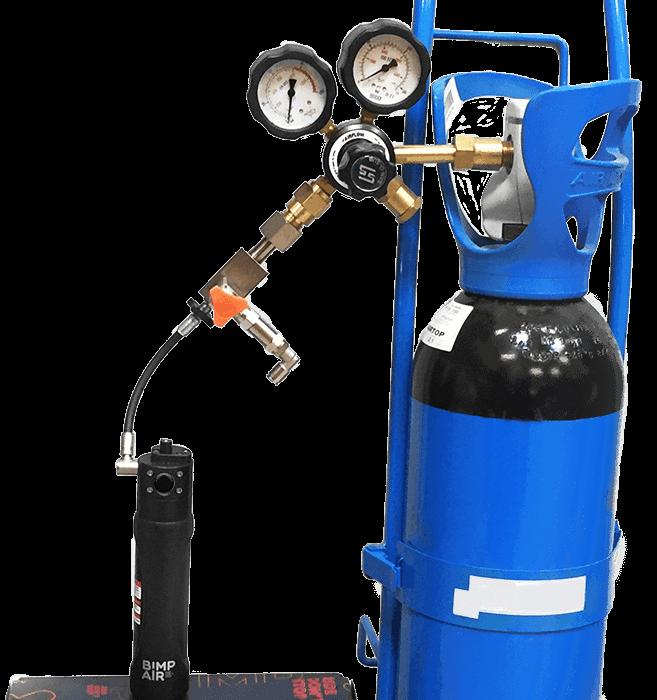 la solution idéale pour le réglage de vos suspensions. rampe azote pour recharger les capsules bimpair en azote