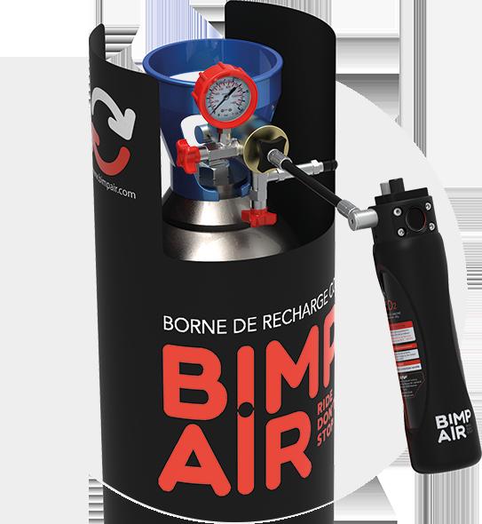 Les premiers systèmes de gestion d'air comprimé et de gaz haute pression nomades et rechargeable.  Une méthode de transfert de gaz pour recharger les capsules. Système plein pour vide