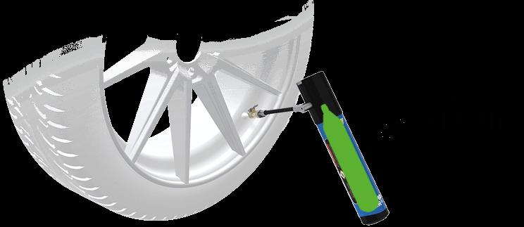La Solution idéale pour la Pression des Pneus. utilisation en 3 étapes des capsules rechargeables en co2